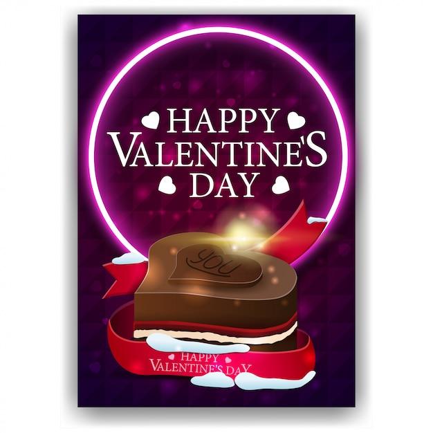Couverture pourpre de la saint-valentin avec des bonbons au chocolat Vecteur Premium