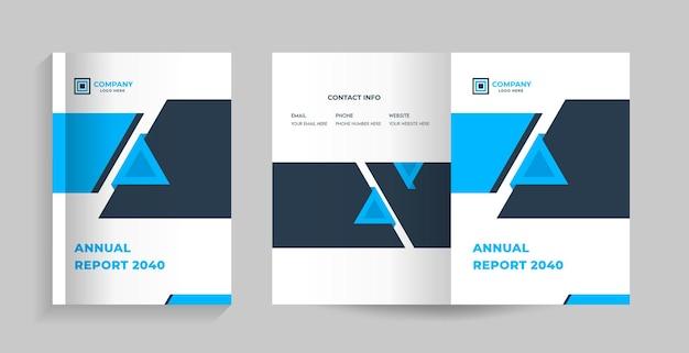 Couverture Recto Et Verso Pour Brochure, Profil D'entreprise, Proposition, Magazine De Rapport Annuel Vecteur Premium