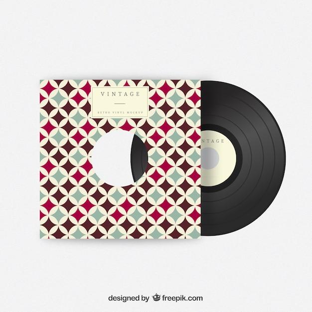Couverture En Vinyle Vintage Vecteur Premium