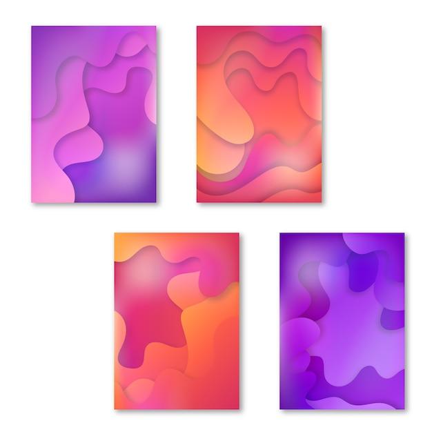 Couvertures Abstraites Vecteur gratuit