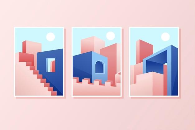 Couvertures D'architecture Minimale Vecteur gratuit