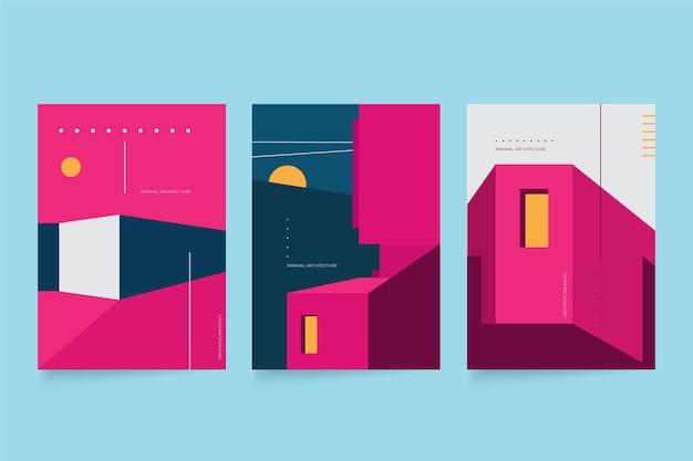 Couvertures D'architecture Minimale Vecteur Premium