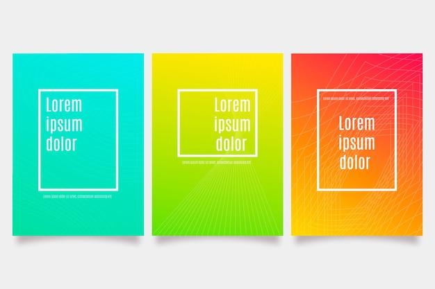 Couvertures Colorées Abstraites Vecteur gratuit