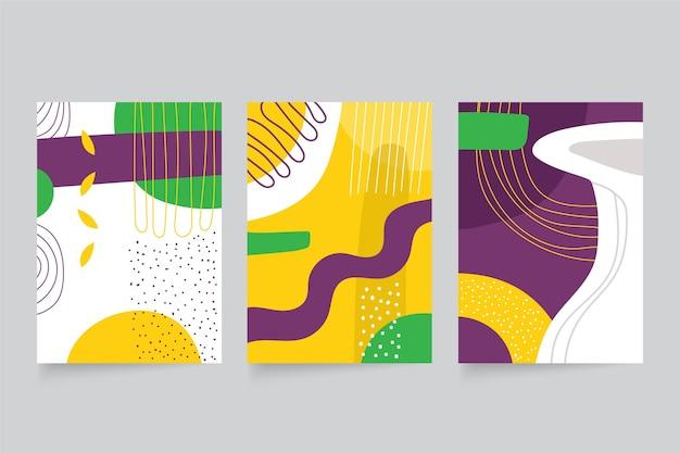 Couvertures De Formes Abstraites Dessinées à La Main Vecteur gratuit
