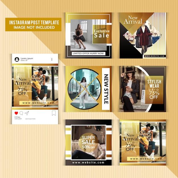 Couvertures instagram pour entreprises commerciales Vecteur Premium