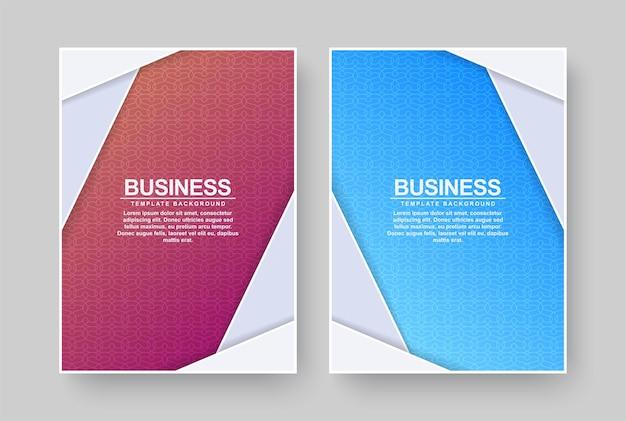Couvertures Minimales Colorées Abstraites Vecteur Premium