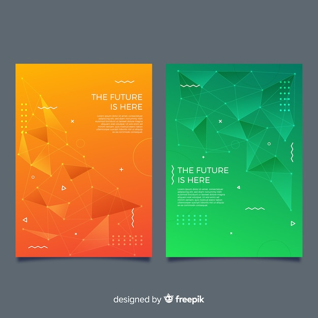 Couvertures technologiques colorées Vecteur gratuit