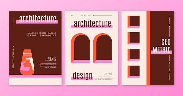 Couvre L'architecture Minimale Vecteur gratuit