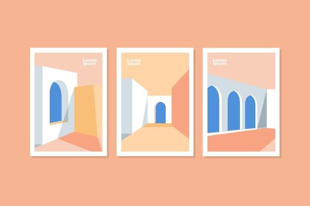Couvre La Collection De Modèles D'architecture Minimale Vecteur gratuit
