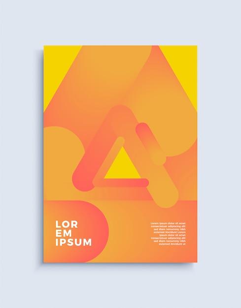 Couvrir Le Modèle De Conception Abstraite Moderne. Vecteur Premium
