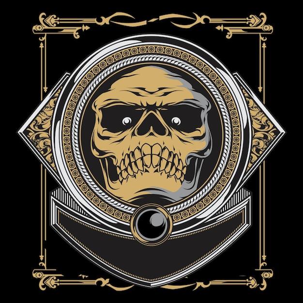 Crâne d'arogan Vecteur Premium
