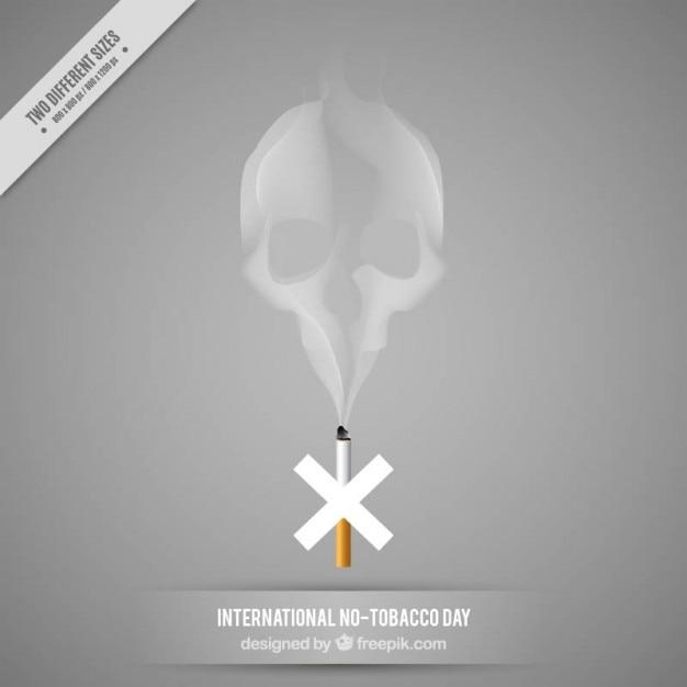 Crâne composé de fumée fond Vecteur gratuit