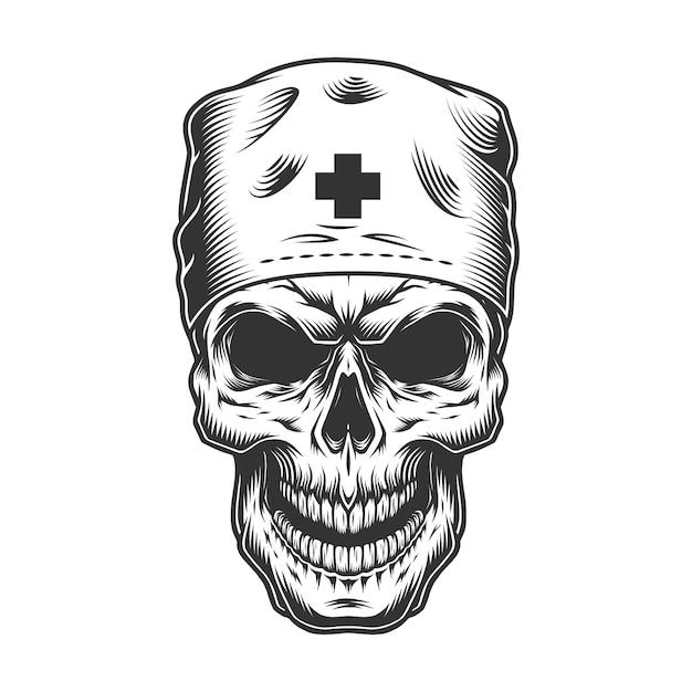 Crâne En Masque De Médecin Vecteur gratuit