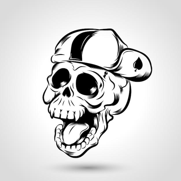 Crâne punk Vecteur Premium