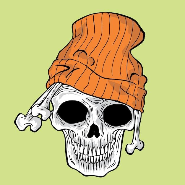 Crâne de rue Vecteur Premium