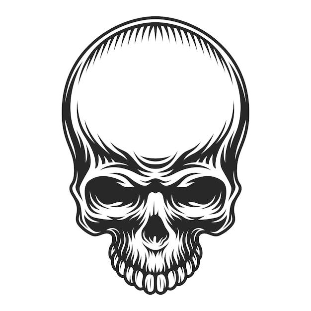 Crâne Vintage Rétro Vecteur gratuit