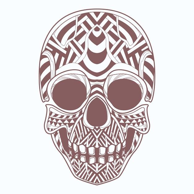 Crâne Vecteur Premium