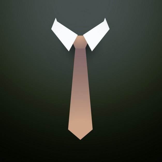 Cravate avec col fond Vecteur gratuit