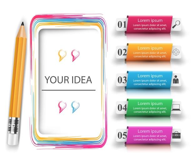 Crayon, icône de l'éducation Vecteur Premium