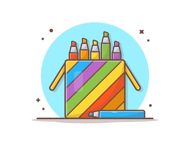 Crayons De Couleur En Cas Vecteur Premium