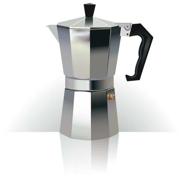 Créateur de café 3d réaliste Vecteur Premium