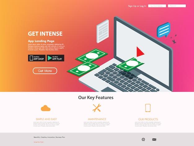 Créateur vidéo pour site web de réseautage internet Vecteur Premium