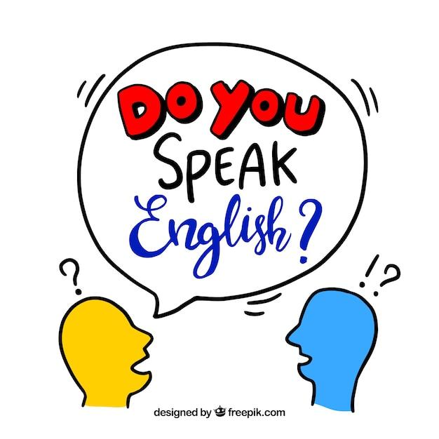 Créatif parlez-vous anglais Vecteur gratuit