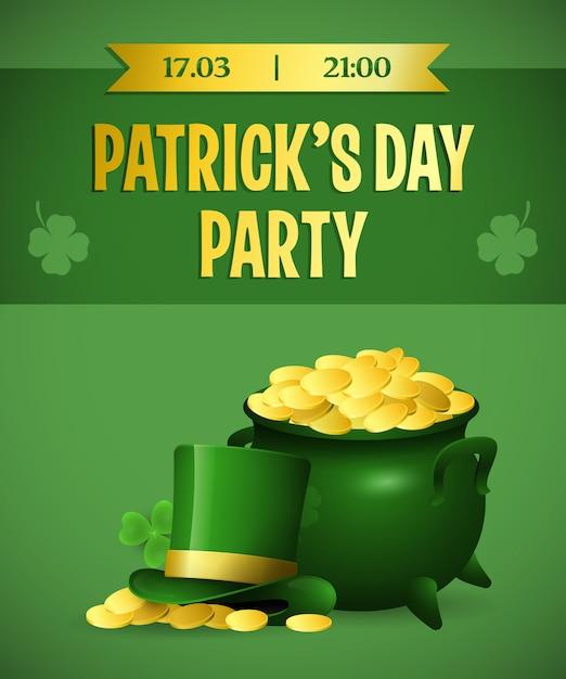 Création d'affiche pour le festival patricks day party Vecteur gratuit
