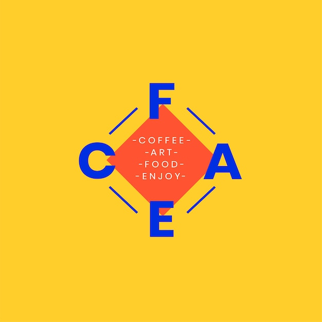 Création De Badge Logo Café Et Art Vecteur gratuit