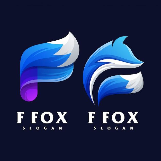 Création du logo f fox Vecteur Premium