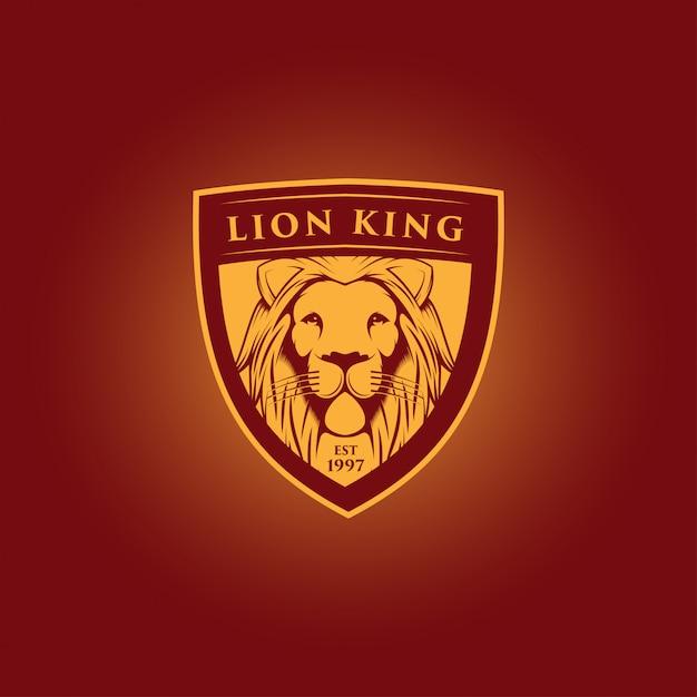 Création du logo mascotte du roi lion Vecteur Premium