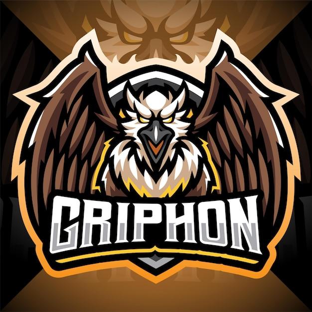 Création Du Logo De La Mascotte Gryphon Esport Vecteur Premium
