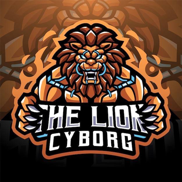 Création Du Logo De La Mascotte Lion Cyborg Esport Vecteur Premium