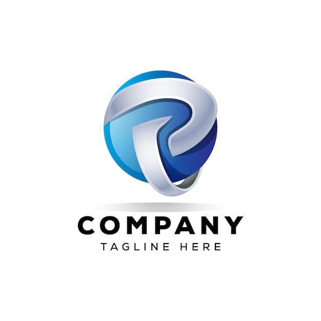 Création De Logo 3d P P Vecteur Premium