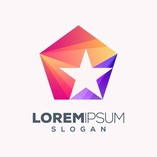Création De Logo Abstrait étoile Colorée Vecteur Premium