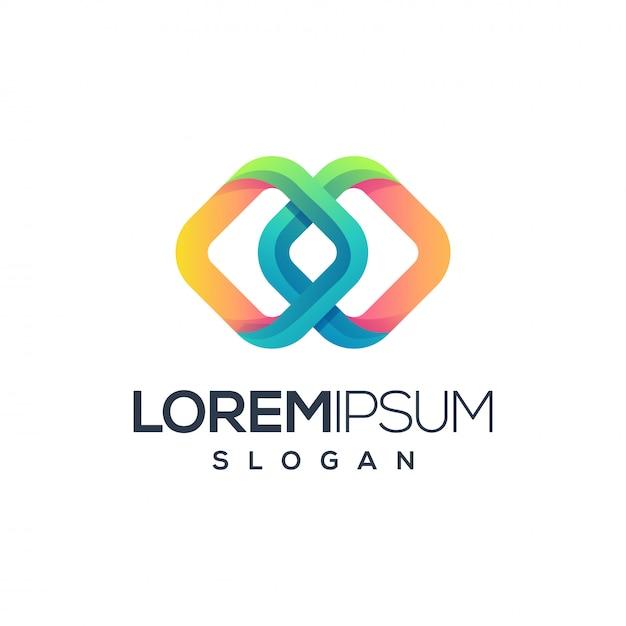 Création de logo abstrait Vecteur Premium