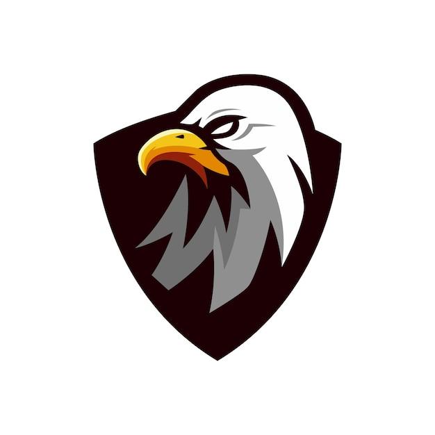 Création De Logo D'aigle Vecteur Premium