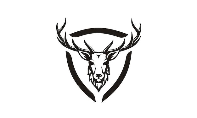 Création de logo antler / chasse Vecteur Premium