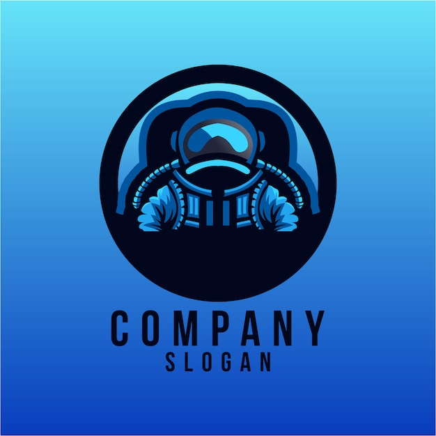 Création de logo astronout Vecteur Premium