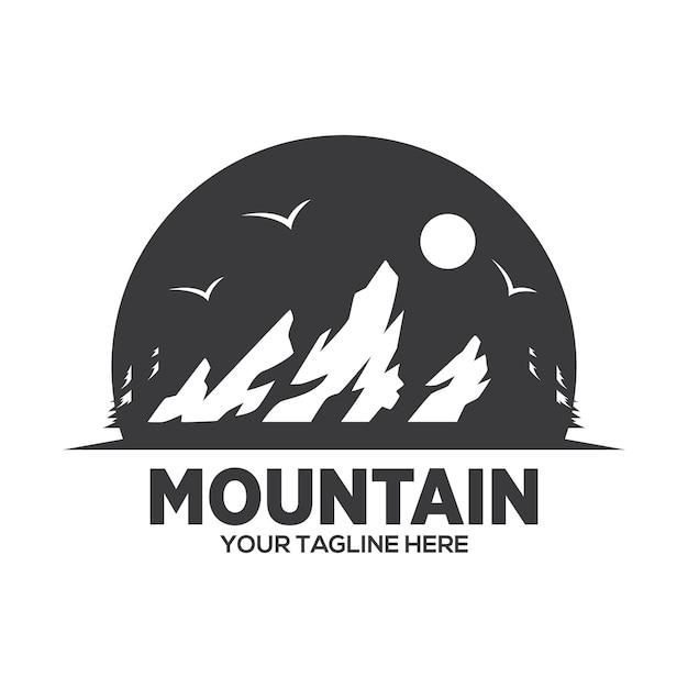 Création De Logo D'aventure En Montagne Vecteur Premium