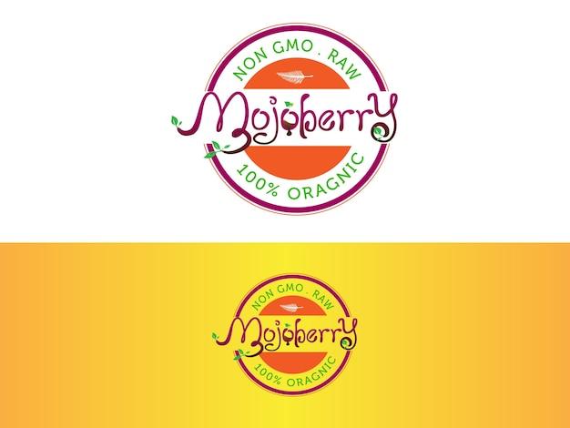 Création De Logo De Barre De Jus Organique Vecteur Premium