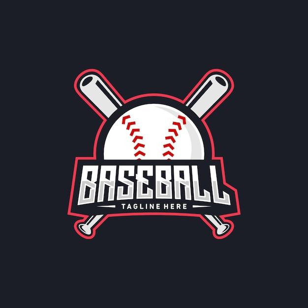Création De Logo De Baseball Vecteur Premium