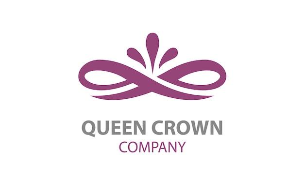 Création de logo beauté élégante couronne florale Vecteur Premium
