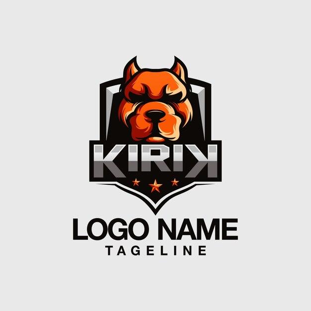 Création de logo bulldog Vecteur Premium