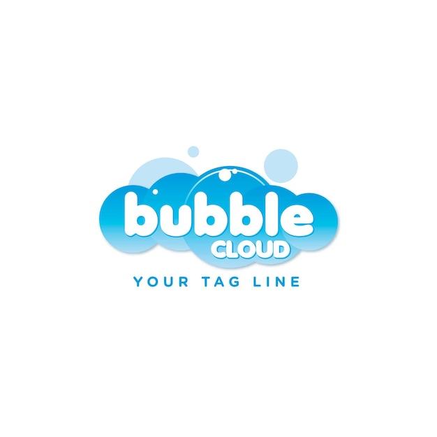 Création de logo de bulle Vecteur Premium