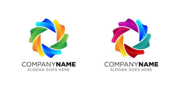 Création de logo de caméra liquide Vecteur Premium