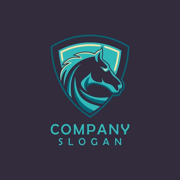 Création de logo de cheval Vecteur Premium