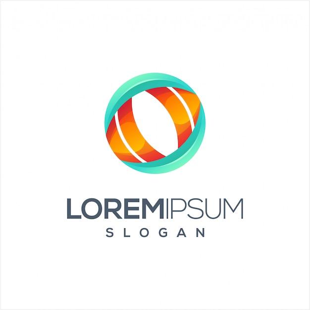 Création De Logo Circle Vision Vecteur Premium