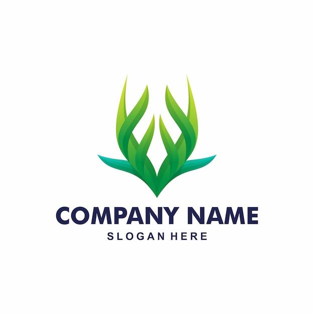 Création de logo en corne Vecteur Premium
