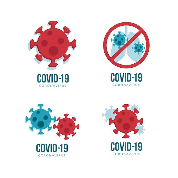 Création De Logo De Coronavirus Vecteur Premium
